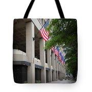 J Edgar Hioover Fbi Building Tote Bag