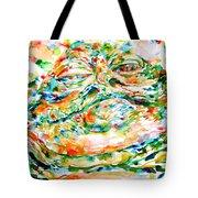 Jabba The Hutt Watercolor Portrait Tote Bag
