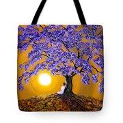 Jacaranda Sunset Meditation Tote Bag