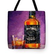 Still Life With Bottle And Glass Tote Bag
