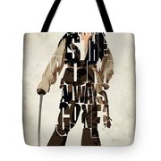 Jack Sparrow Inspired Pirates Of The Caribbean Typographic Poster Tote Bag