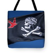Jack Sparrow Pirate Skull Flag Tote Bag