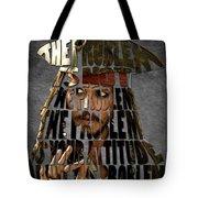 Jack Sparrow Quote Portrait Typography Artwork Tote Bag