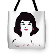 Jackie Kennedy Signature Pink Lips Tote Bag by Jost Houk