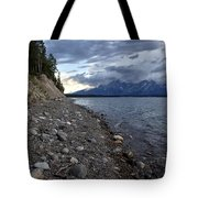 Jackson Lake Shore With Grand Tetons Tote Bag