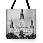 Jackson Square In Black And White Tote Bag