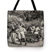 Jackson Square Jazz Sepia Tote Bag