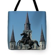 Jackson Square Salute Tote Bag by Kevin Croitz