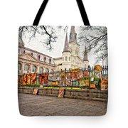Jackson Square Winter Impasto Tote Bag