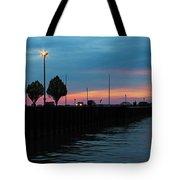Jackson Street Pier - Sunset Tote Bag