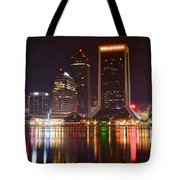 Jacksonville Aglow Tote Bag