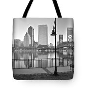 Jacksonville Black And White Ay Tote Bag