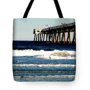 Jacksonville Pier Tote Bag