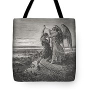 Jacob Wrestling With The Angel Tote Bag