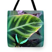 Jade Butterfly With Vignette Tote Bag