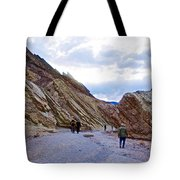 Jagged Edges On Canyon Walls In Golden Canyon Trail In Death Valley National Park-california  Tote Bag