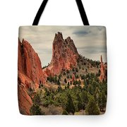Jagged Peaks Of The Gods Tote Bag