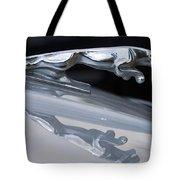 Jaguar Car Hood Ornament Reflection Tote Bag