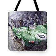 Jaguar D-type  1955 Le Mans  Tote Bag