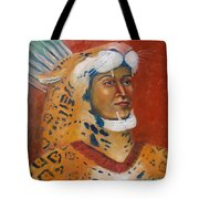 Jaguar Knight Popoca Tote Bag by Lilibeth Andre