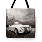 Jaguar Xk150 - Admiring The View Tote Bag
