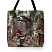 Jail Cell Barber Tote Bag