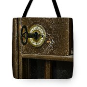 Jail Cell Door Lock  And Key Close Up Tote Bag