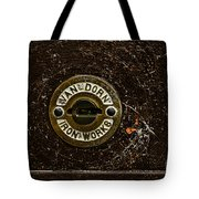 Jail Cell Door Lock Close Up Tote Bag