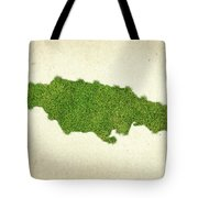 Jamaica Grass Map Tote Bag by Aged Pixel
