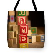 James - Alphabet Blocks Tote Bag