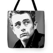 James Dean In Black And White Tote Bag