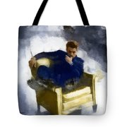 James Dean In Yellow Leather Chair Tote Bag