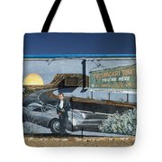 James Dean Mural In Tucumcari On Route 66 Tote Bag by Carol Leigh