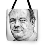 James Gandolfini In 2007 Tote Bag