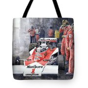 James Hunt Monaco Gp 1977 Mclaren M23 Tote Bag