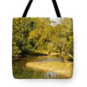 James River In The Fall Tote Bag