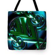Jammer Blue Green Flux 001 Tote Bag