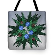 Jammer Blue Red Snow Wreath Tote Bag