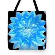 jammer Blue Shimmer Lotus Tote Bag