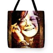 Janis Joplin - Upclose Tote Bag
