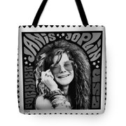 Janis Stamp In A Black And White Vibe Tote Bag