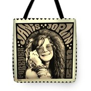 Janis Stamp In A Sepia Vibe Tote Bag
