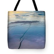January Sunset On A Frozen Lake Tote Bag
