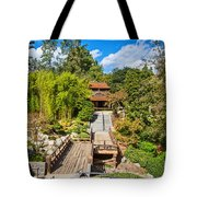 Japan In Pasadena - Beautiful View Of The Newly Renovated Japanese Garden In The Huntington Library. Tote Bag