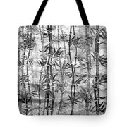 Japanese Bamboo Grunge Black And White Tote Bag