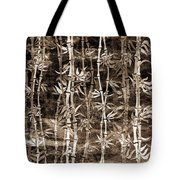 Japanese Bamboo Sepia Grunge Tote Bag