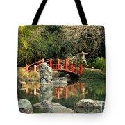 Japanese Bridge Over Water Tote Bag