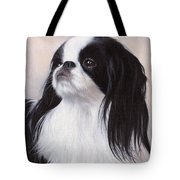 Japanese Chin Painting Tote Bag