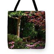 Japanese Garden Bench Tote Bag