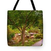 Japanese Garden Bridge Tote Bag